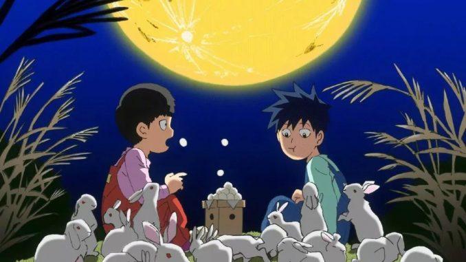 Mob Psycho 100 Staffel 2 - Dieses süße Poster zeigt Mob und Ritsu bei Nacht