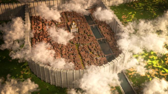 Attack on Titan: Fans bauen gesamten Stadtbezirk in Minecraft nach