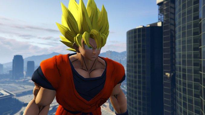 GTA 5 als Son-Goku spielen: Mod lässt euch für Chaos sorgen